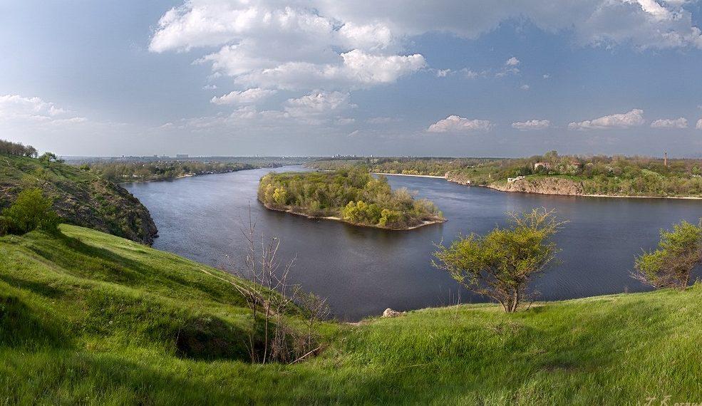 Острів Хортиця - фото панорами Дніпра